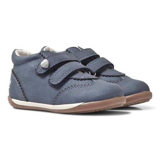 Mayoral Blue Scalloped Detail Velcro Trainers 74 Jeans