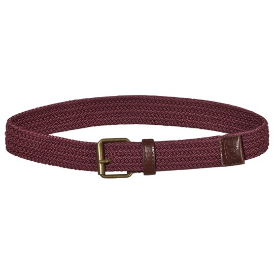Mayoral Buckle Belt Burgundy Red