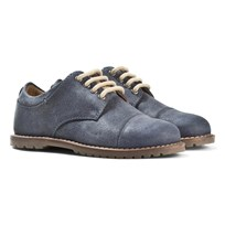 Mayoral Blue Leather Lace Up Shoes Blue