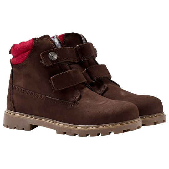 Mayoral Brown Leather Suede Velcro Strap Ankle Boots BROWN