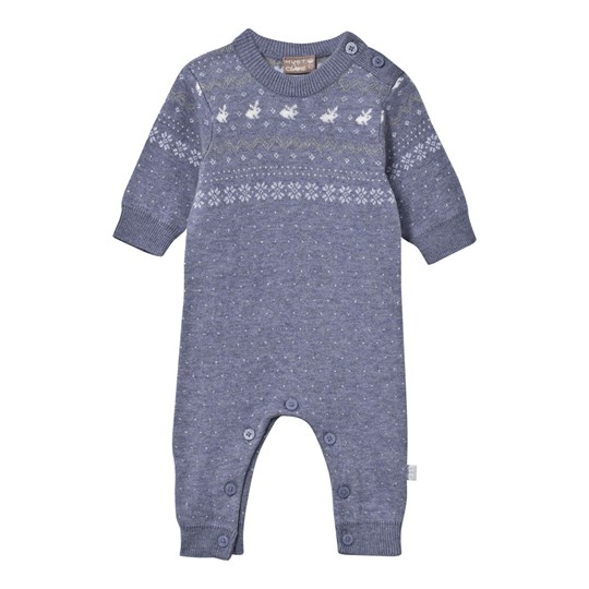 Hust&Claire Knitted One-Piece Blue Blue fog melange