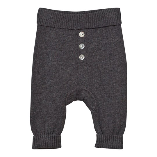 Hust&Claire Knitted Trousers Grey Antracite Melange