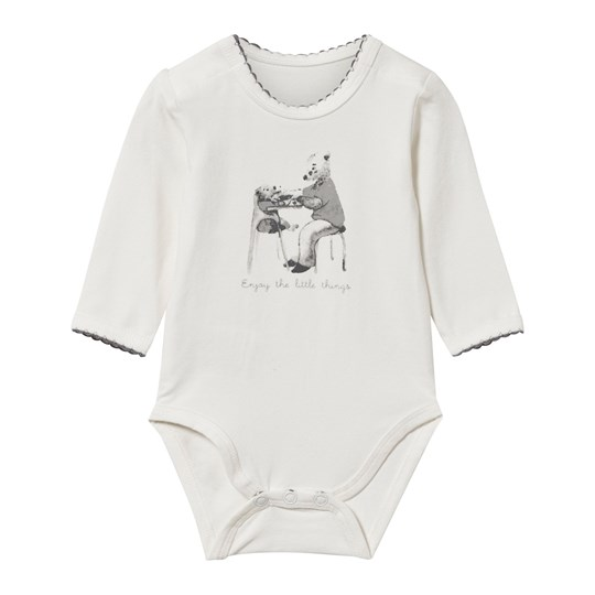 Hust&Claire Grey Baby Body 3-Pack Ivory