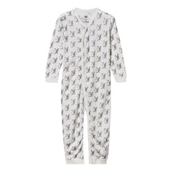 Hust&Claire Wool Silk Baby One-Piece White