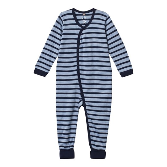 Hust&Claire Baby One-Piece Striped Blue Blue Dawn Melange