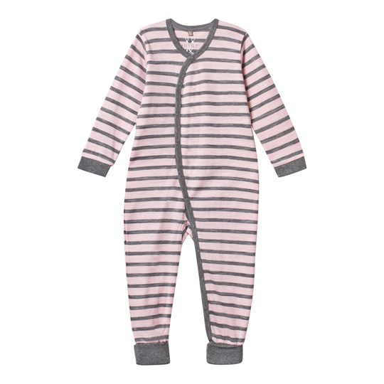 Hust&Claire Baby One-Piece Striped Pink Rose Melange
