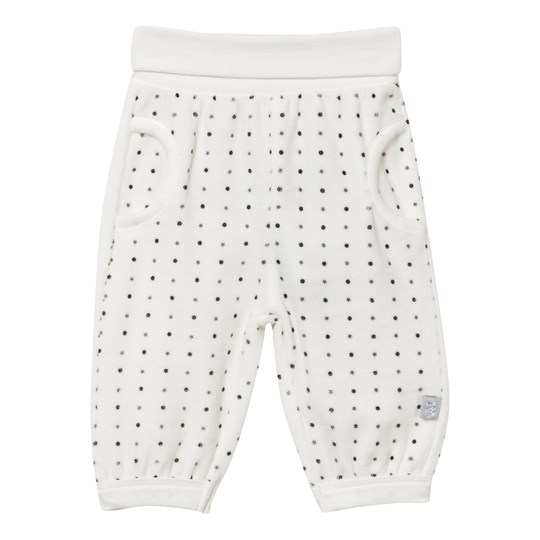 Hust&Claire Velour Trousers White Ivory