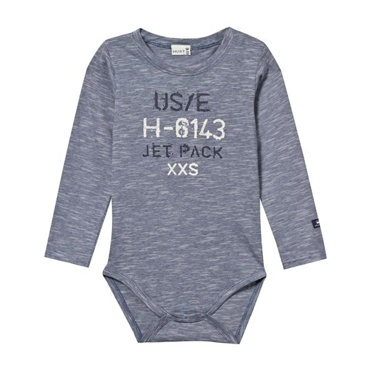 Hust&Claire Print Baby Body Metal blue