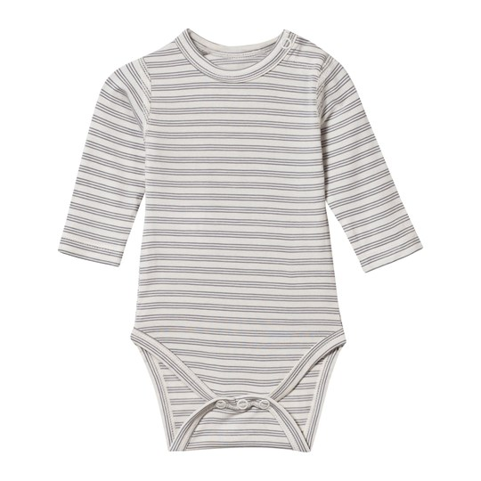 Hust&Claire Baby Body Bamboo Blue/White Flint grey