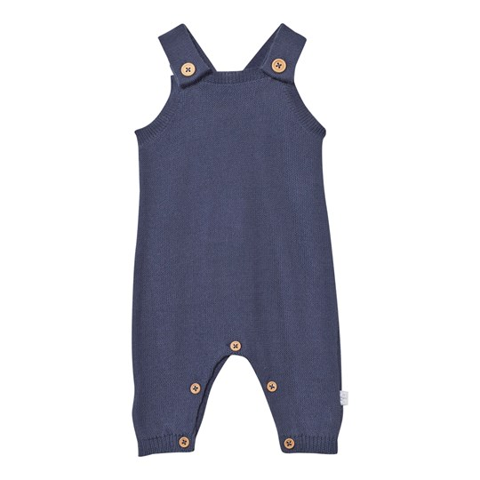Hust&Claire Knitted Romper Suit Navy Metal blue