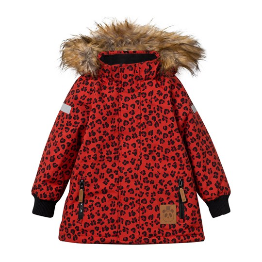 Mini Rodini Siberia Leopard Jacket Red Punainen