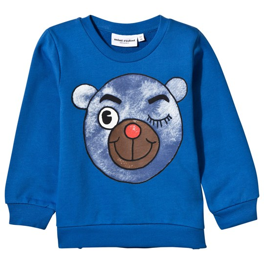 Mini Rodini Bear Sweatshirt Blue Blue