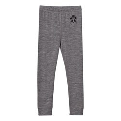 Mini Rodini Panda Wool Leggings Dark Grey Mel