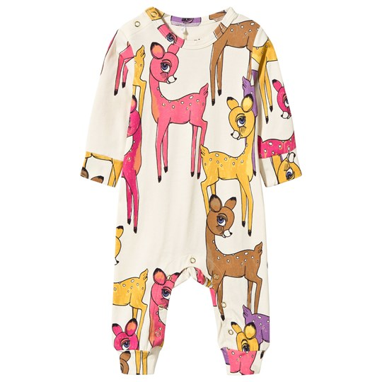 Mini Rodini Roe Deer Baby One-Piece Pink Pink