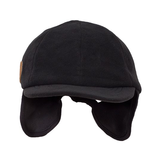 Mini Rodini Fleece Cap Black Black