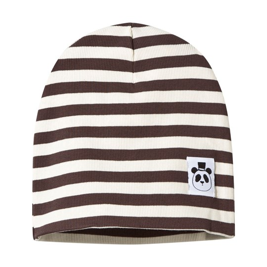 Mini Rodini Stripe Rib Beanie Brown BROWN