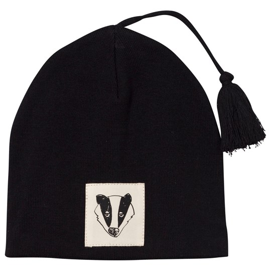 Mini Rodini Badger Hat Black Black