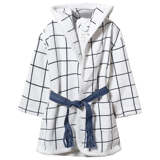 Carrément Beau Bathrobe Offwhite/Blue OFF WHITE  BLUE