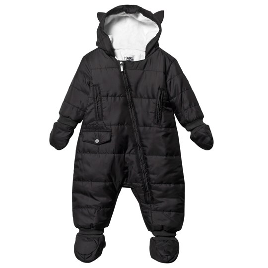 Karl Lagerfeld Kids Coverall Mittens Booties Choupette Black Black