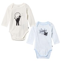 Karl Lagerfeld Kids Baby Body 2-Pack Ciel Chine Ciel Chine