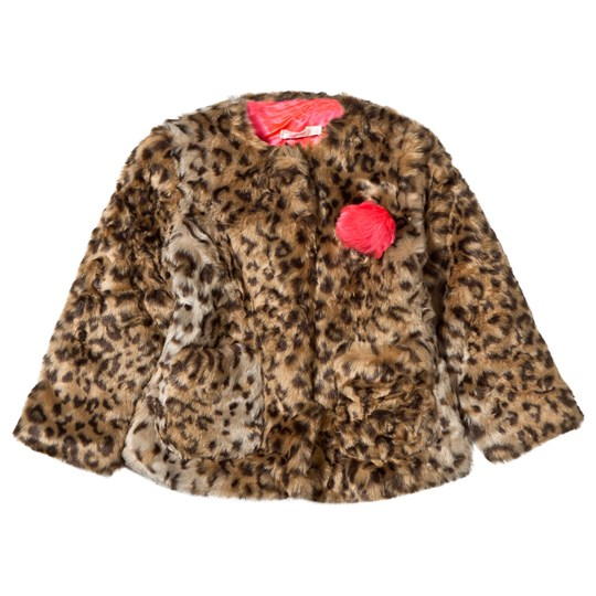 Billieblush Jacka Leopard Faux Fur Unique Unique