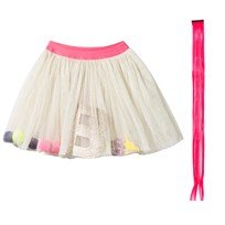 Billieblush Tulle Skirt Accessory Ivory White