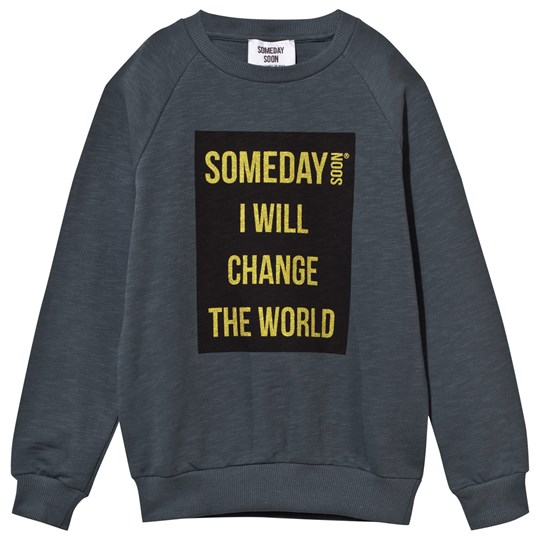 Someday Soon Ivan Crewneck Petrol Petrol