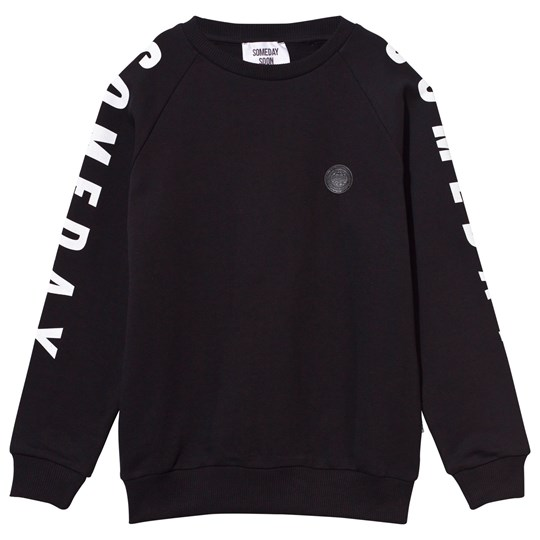 Someday Soon Cameron Crewneck Black Black