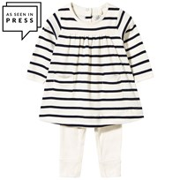 Petit Bateau Baby Dress & One-Piece Navy/White coquille/abysse