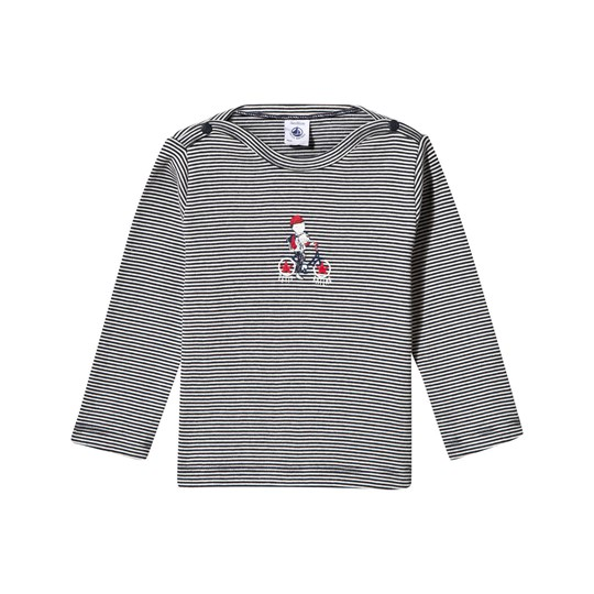 Petit Bateau Long Sleeve Tee Smoking Coquille smoking/coquille