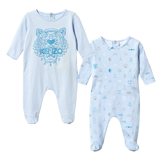 Kenzo Arou Footed Baby Body Set Baby Blue Baby Blue