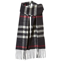Burberry The Mini Classic Cashmere Scarf Check Navy Marinblå