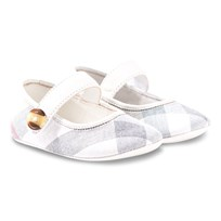 Burberry Pale Classic Check Booties Pale Classic Check