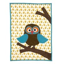 ferm LIVING Owl Quilted Blanket Owl