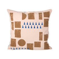 ferm LIVING Block Cushion - Rose Multi