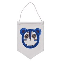 ferm LIVING Billy Bear Wall Flag - Blue Blue