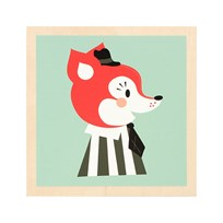 ferm LIVING Mr. Frank Fox Picture Fox
