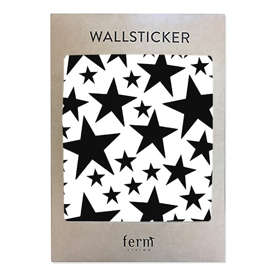 ferm LIVING Mini Stars Wallsticker - Black Black