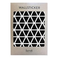 ferm LIVING Mini Triangles Wallsticker Black
