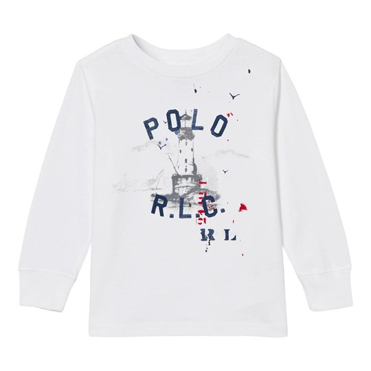Ralph Lauren Cotton Long-Sleeve Graphic Tee Soft White Soft White