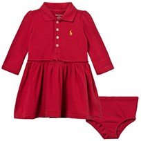 Ralph Lauren Cotton Polo Dress and Bloomer Avenue Red Park Avenue Red