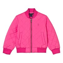 Ralph Lauren Quilted Baseball Jacka Madison Rosa Madison Pink