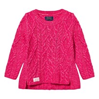 Ralph Lauren Aran-Knit Cotton-Blend Sweater Desert Pink Desert Pink