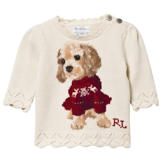Ralph Lauren Dog Combed Cotton Sweater Herbal Milk Herbal Milk