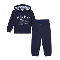 Ralph Lauren Cotton Huvtröja och Byxor Set True Navy True Navy