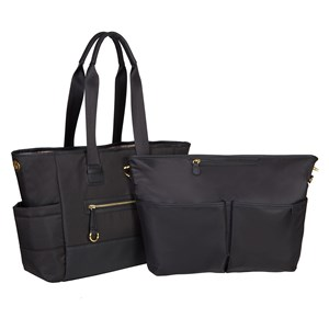 Image of Skip Hop Chelsea 2-in-1 Downtown Chic Diaper Tote Black (3022491287)