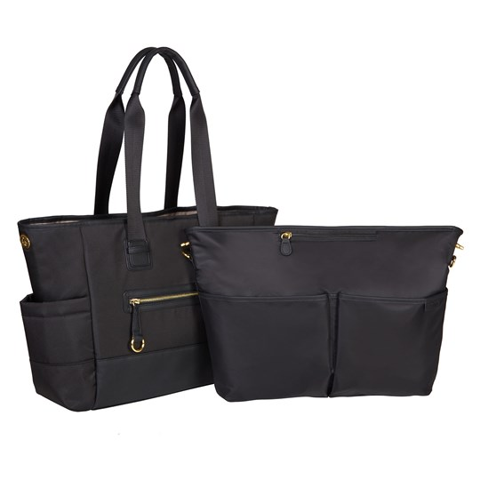 Skip Hop Chelsea 2-in-1 Downtown Chic Diaper Tote Black Black