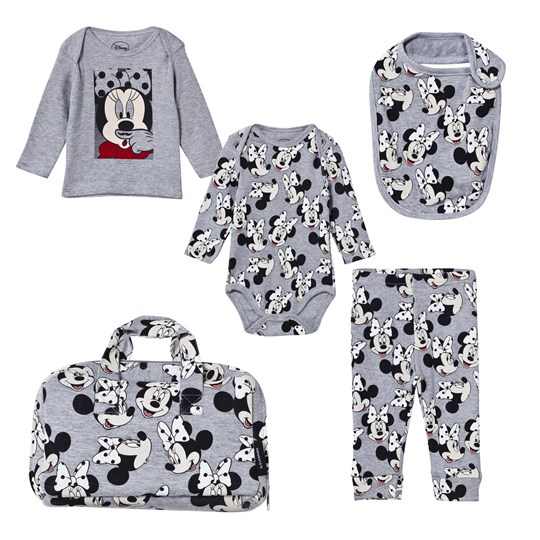 Little Eleven Paris Minnie Baby Layette Grey Mélange Grey Melanged