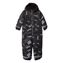 The BRAND Winter Overall Black Love Black