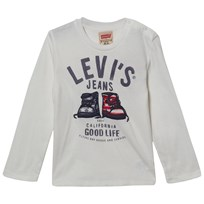 Levis Kids Long Sleeve Tee Billy Ivory Ivory